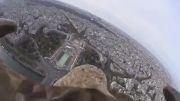 اکشن کم سونی سوار بر یک عقاب بر فراز پاریس