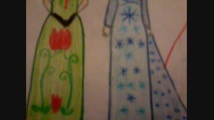 نقاشی من از السا و آنا.