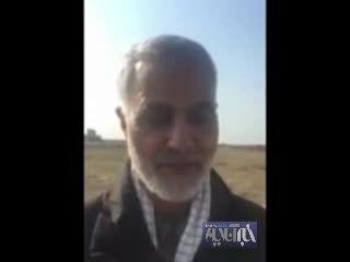 پیام عربی سردار سلیمانی به فرزندان یکی از نیروهای بسیج