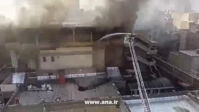 ویدیویی از آتش سوزی در تالار وزارت کشور