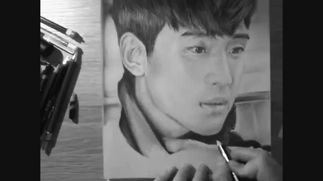 یه نقاشی محشر از چهره کیم سو هیون