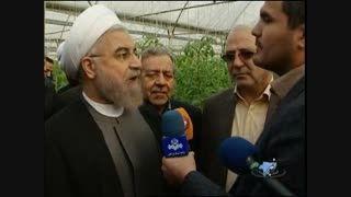 بازدید از گلخانه پارادایس شهر گرگاب توسط رئیس جمهور