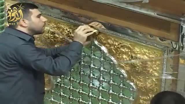 گزارش - اتمام عملیات پایانی ساخت ضریح جدید حضرت عباس ع
