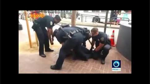 رفتار تکان دهنده  پلیس آمریکا علیه سیاهپوست معلول(جدید)