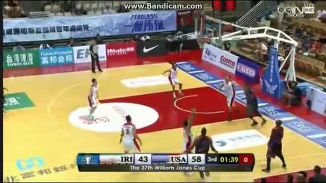 بسکتبال ایران و آمریکا در جام ویلیام جونز 2015