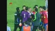 اعتراض بازیكنان كره در پایان بازی با ایران