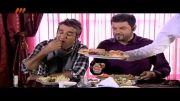ترسیدن پژمان جمشیدی از خرچنگ و خنده سام درخشانی(سریال پژمان)