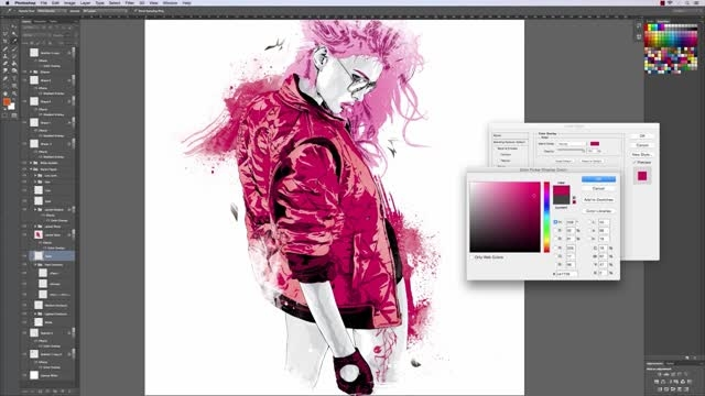 Creating a Fashion Illustration in Illustrator and Phot