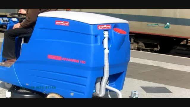 اسکرابر مدرن صنعتی|دستگاه نظافت صنعتی|     87184-021