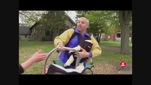 کلیپ بشدت خنده دار دوربین مخفی پدر بچه اش را له میکند