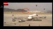 لحظه فرود اضطراری هواپیمای مسافربری در فرودگاه زاهدان