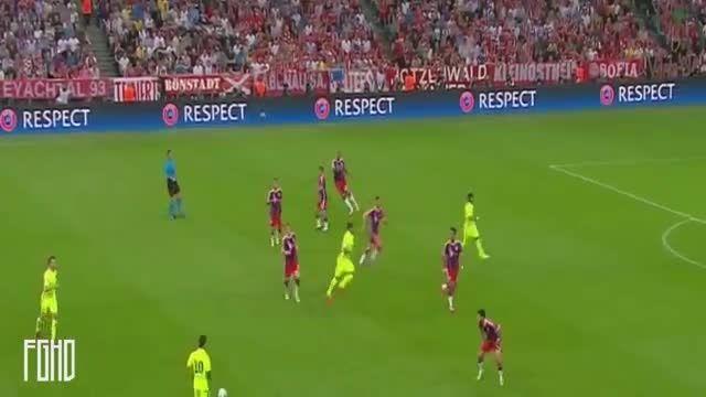 بایرن مونیخ 3 - 2 بارسلونا (گلهای بازی)