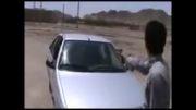 شلیک و انفجار یک پژو 405 توسط چند جوان یزدی