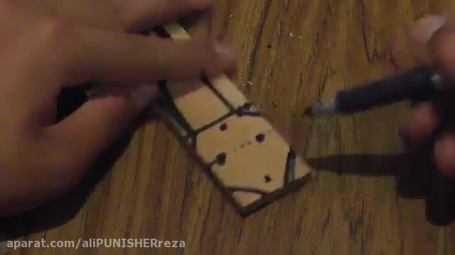 ساخت چاقوی پروانه ای چوبی