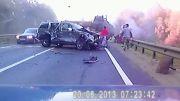 تصادف وحشتناک در جاده