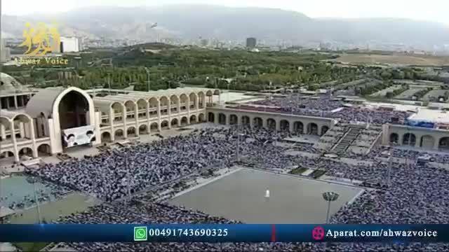 فیلم نماز عید فطر به امامت آیت الله خامنه ای 1394