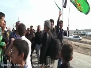 حرکت زائران اربعین حسینی (ع) در شلمچه از نمای هوایی