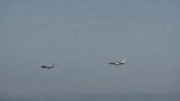 Landing at same time