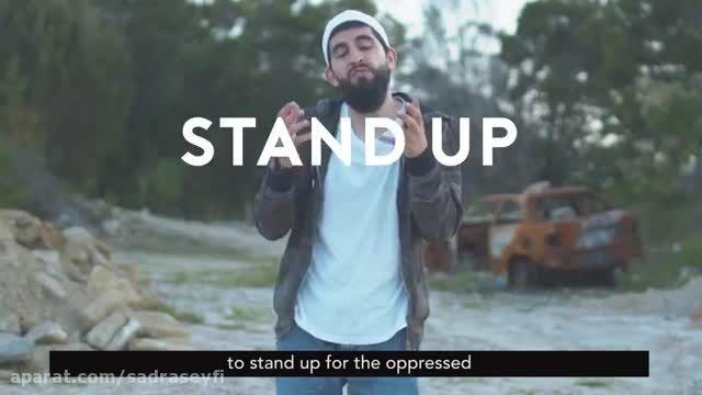 مردی مسلمان به شکل رپ از پیامبر دفاع میکند