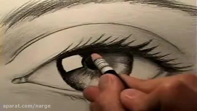 آموزش نقاشی سیاه قلم چشم