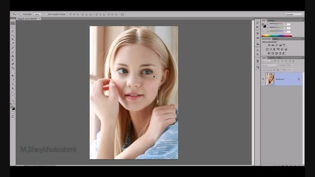 آموزش فتوشاپ - روتوش حرفه ایی چهره - قسمت چهارم