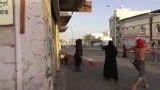 شجاعت دختر بحرینی در برابر نیروهای امنیتی