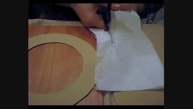 آموزش دکوپاژ با پوست تخم مرغ (ساخت قاب تزیینی)