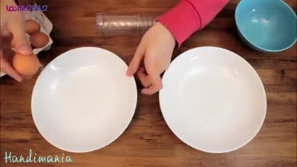 روش جالب و سریع جدا کردن زرده از سفیده تخم مرغ