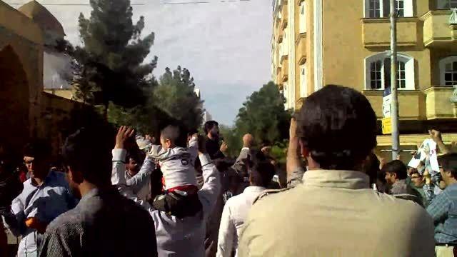تجمع دانشجویان در نزدیکی سفارت عربستان part2