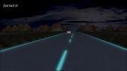 فناوری خط کشی نورانی در جاده های بین شهری هلند