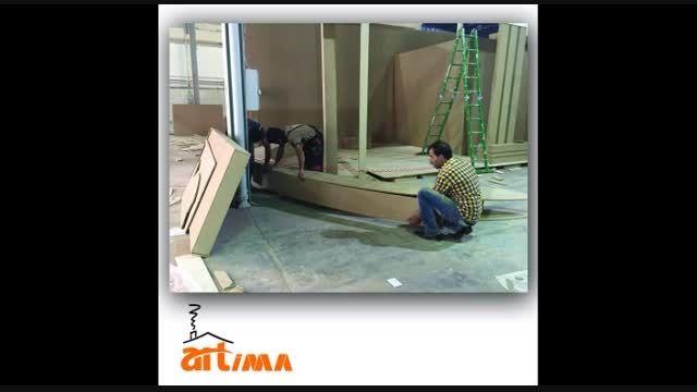 طراحی غرفه نمایشگاهی شرکت معماری داخلی آرتیما