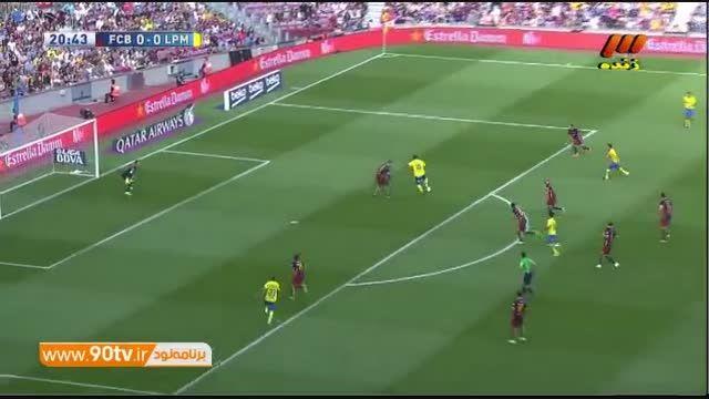 خلاصه بازی: بارسلونا ۲-۱ لاس پالماس