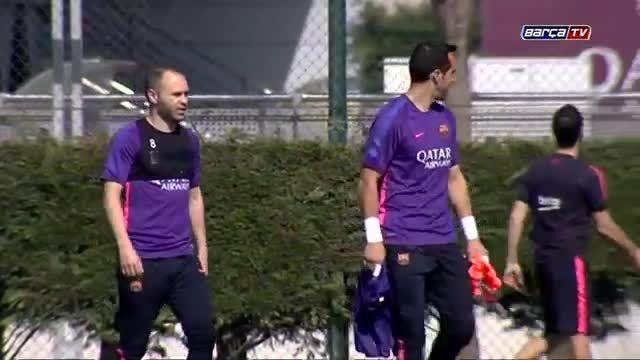 تمرینات صبح امروز بارسلونا (24 فروردین 94)
