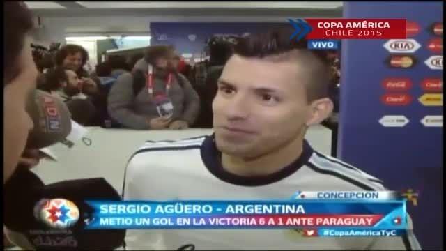 مصاحبه آگوئرو پس از بازی مقابل پاراگوئه(کوپا آمریکا)