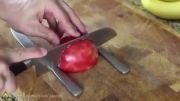درست کردن قو با سیب