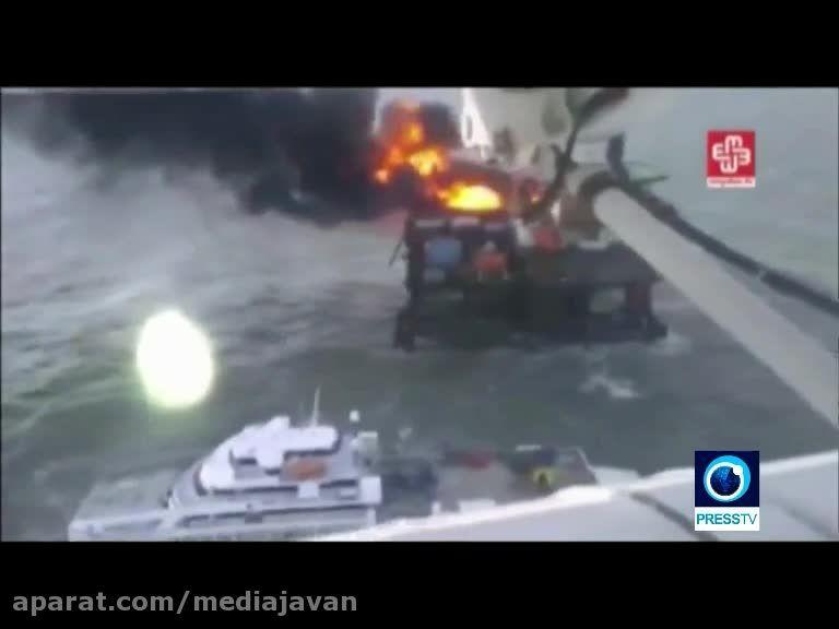 30 کشته در انفجار سکوی نفتی آذربایجان