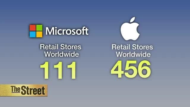 افتتاح فروشگاه جدید مایکروسافت در همسایگی اپل