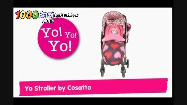 فیلم کالسکه بچه مدل قلب Cosatto