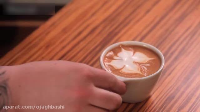 تزیین قهوه لاته (بخش سوم)