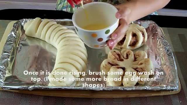 طرز تهیه نان با نوتلا - Bazeh.com Breadmaking