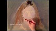 کلیپ فوق العاده دیدنی از ترسیم چهره بصورت حرفه ای با مداد رنگی