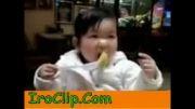 لیمو ترش خوردن بچه