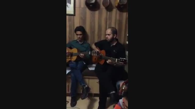 تمرین گروه نوازی گیتار هم نواز-سرپرست گروه فرزین نیازخا
