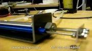 کنترل موقعیت جک پنوماتیک با لب ویو | سنسور LVDT