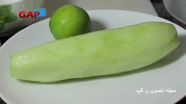ماسک صورت (خیار و لیمو ترش)