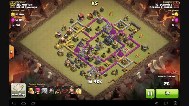 Clash Of Clans- 3 star Attack town hall 9 _GoHog
