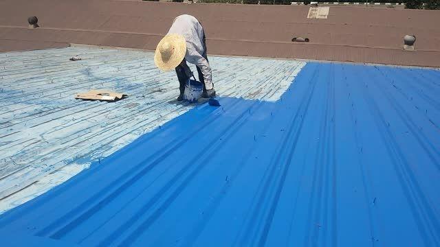 رنگ آمیزی سقف سوله شرکت سایپا با رنگ نانو عایق
