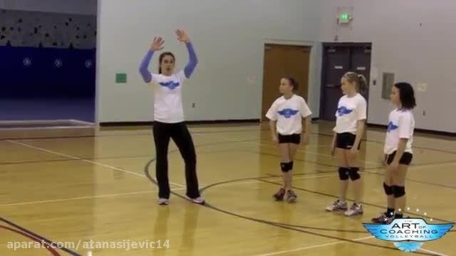 آموزش تمرین اصول اولیه ضربه زدن به توپ و اسپک زدن