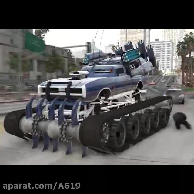 اینم ماد یه ماشین توپ برای پلیس کشی