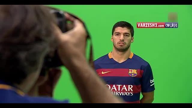 پشت صحنه عکاسی از بازیکنان بارسلونا